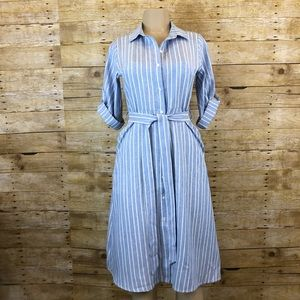 NWT EVERLY | Vintage Style Pinstripe Dress Small